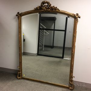 Neoclassical-style Carved and Gilt Mirror