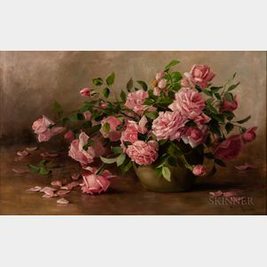 Julia Ives Leonard (American, 1845-1933)    Still Life with Roses