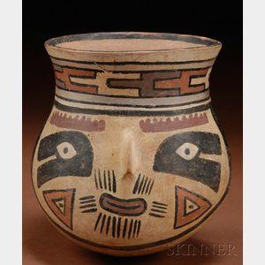 Pre-Columbian Polychrome Pottery Vessel
