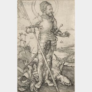 Albrecht Dürer (German, 1471-1528)      St. George on Foot
