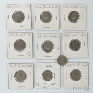 Ten Shield Nickels