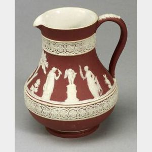 Wedgwood Crimson Jasper Dip Etruscan Jug