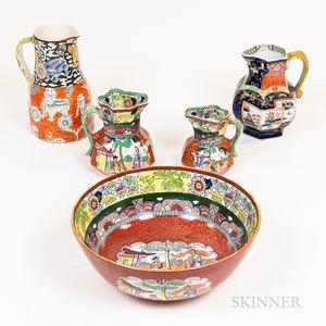 Five Pieces of Mason's Tableware