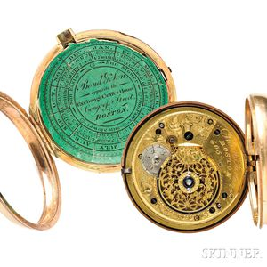 Harrison Gray Otis Family 18kt Gold Watch