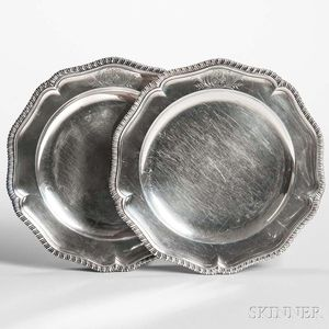 Two George II Sterling Silver Plates