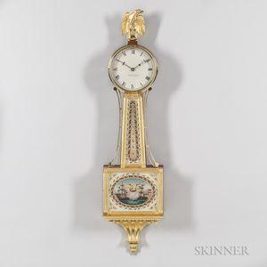 "Foster Campos Mahogany Patent Timepiece or ""Banjo"" Clock"