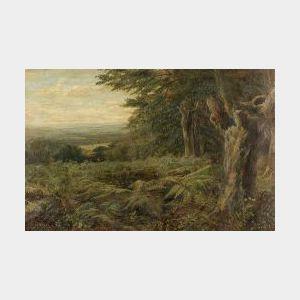 John MacWhirter (Scottish, 1839-1911)  Into the Woods