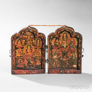 Two-panel Portable Shrine