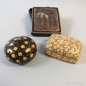 Three Small Lacquer Boxes