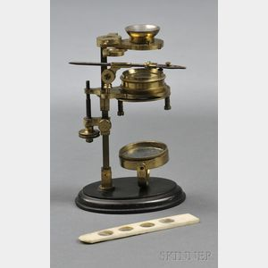 "Brass ""Simple"" Microscope on Stand"