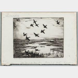 Frank Weston Benson (American, 1862-1951)      Ipswich Marshes