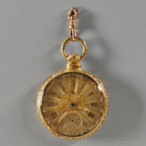 S.I. Tobias & Co. 18kt Gold Open-face Watch