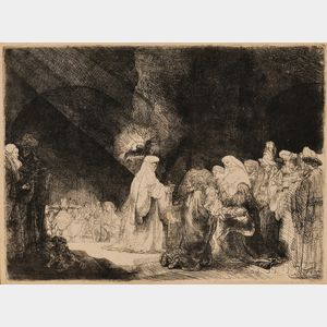 Rembrandt van Rijn (Dutch, 1606-1669)      The Presentation in the Temple (Oblong Print)