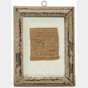 Miniature Needlework Sampler