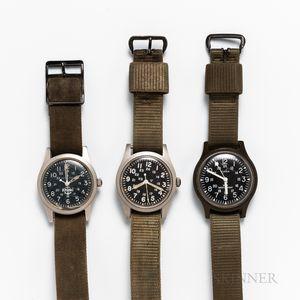 Three Military Wristwatches