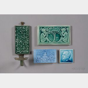 Two Tiles, a Blotter, and a Sconce