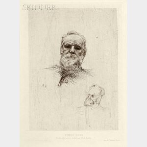 Auguste Rodin (French, 1840-1917)      Victor Hugo de face