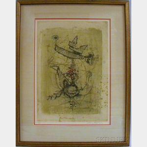 Johnny Friedlaender (German, 1912-1992)      Abstract