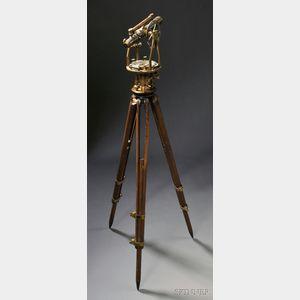 W. & L.E. Gurley Lacquered Brass Surveyor's Transit