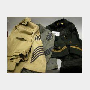 Lot of 19th/20th Century Men's Military Uniforms and Uniformwear
