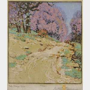 Gustave Baumann (American/German, 1881-1971)      The Ridge Road