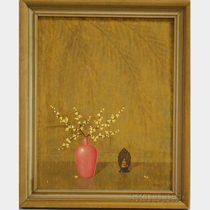 Alfonso T. Toran (American, 1896-1965)      Asian-style Still Life