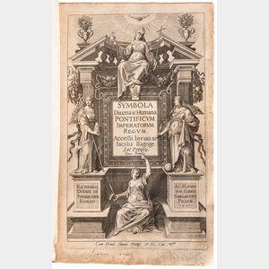 Typot, Jacobus (1540-1601), Aegidius Sadeler (1570-1629), Octavius de Strada (1550-1612), and Anselmus de Boodt (1550-1632) Symbola Div