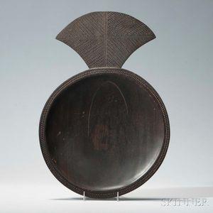 Polynesian Fish-shaped Wood Bowl