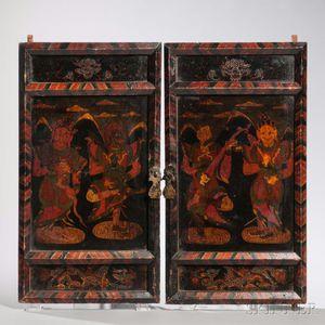 Pair of Painted Wood Doors