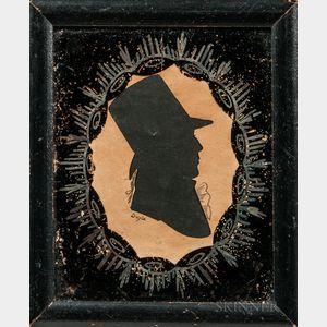 William M.S. Doyle (act. Boston, 1769-1828)      Hollow-cut Silhouette Portrait of Benjamin Richards