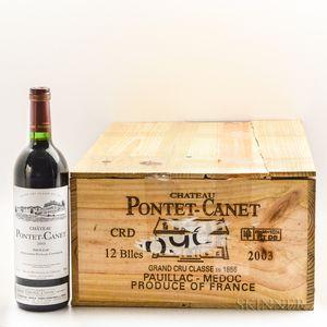 Chateau Pontet Canet 2003, 11 bottles