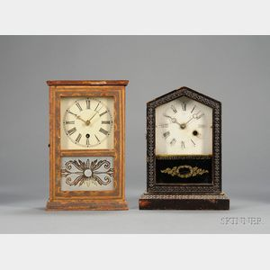 Two Miniature 30-Hour Cottage Clocks