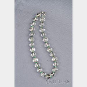 Rock Crystal Bead Necklace