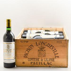 Chateau Pichon Lalande 1985, 11 bottles