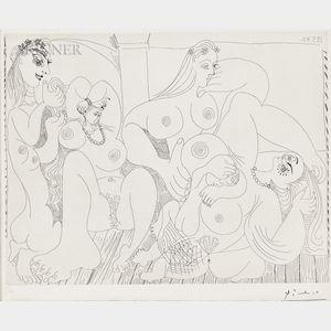 Pablo Picasso (Spanish, 1881-1973)      Autour du Bain Turc, avec un petit intrus