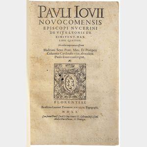 Giovio, Paulo (1483-1552) Episcopi Nucerini de Vita Leonis Decimi Pont. Max. Libri Quatuor.