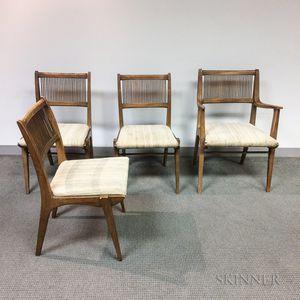 Four Drexel Danish Modern Teak Chairs