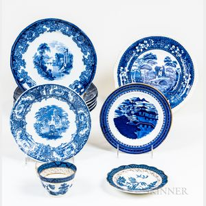 Group of Blue and White Transferware