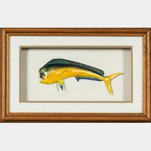 Two Carved and Hand-painted Fish