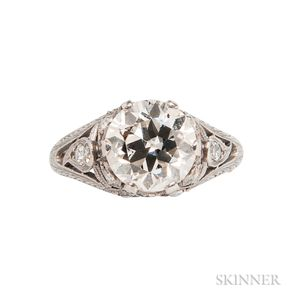 Edwardian Platinum and Diamond Solitaire