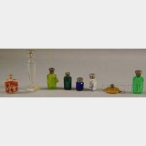 Seven Assorted Perfumes and a Chinese Ivory Snuff Bottle