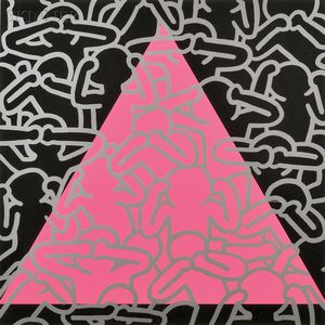 Keith Haring (American, 1958-1990)      Silence Equals Death