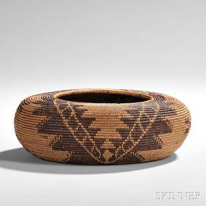 Maidu Coiled Basketry Bowl