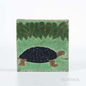 Grueby Faience Company Turtle Tile