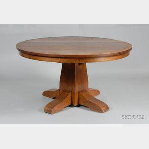 Gustav Stickley Pedestal-base Table
