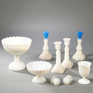 Group of Pressed Glass Tableware