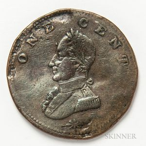 Undated Washington Double Head Cent