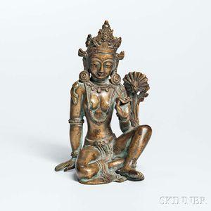 Gilt-bronze Figure of Tara