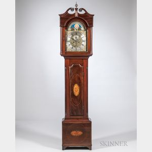 John Allan Inlaid Mahogany Tall Clock