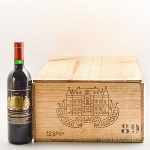 Chateau Palmer 1989, 10 bottles
